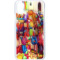 Guatemala Art Painting Naive Apple Iphone X Seamless Case (white) by Celenk