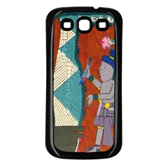 Mexico Puebla Mural Ethnic Aztec Samsung Galaxy S3 Back Case (black)