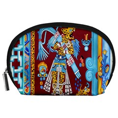 Mexico Puebla Mural Ethnic Aztec Accessory Pouches (large)