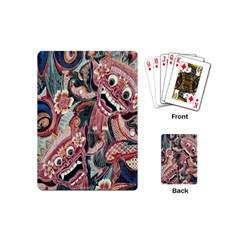 Indonesia Bali Batik Fabric Playing Cards (mini)  by Celenk