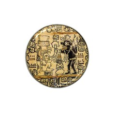 Mystery Pattern Pyramid Peru Aztec Font Art Drawing Illustration Design Text Mexico History Indian Hat Clip Ball Marker (10 Pack) by Celenk