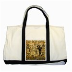 Mystery Pattern Pyramid Peru Aztec Font Art Drawing Illustration Design Text Mexico History Indian Two Tone Tote Bag