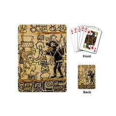 Mystery Pattern Pyramid Peru Aztec Font Art Drawing Illustration Design Text Mexico History Indian Playing Cards (mini)  by Celenk