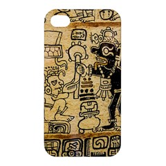 Mystery Pattern Pyramid Peru Aztec Font Art Drawing Illustration Design Text Mexico History Indian Apple Iphone 4/4s Hardshell Case by Celenk