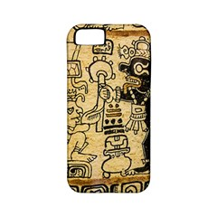 Mystery Pattern Pyramid Peru Aztec Font Art Drawing Illustration Design Text Mexico History Indian Apple Iphone 5 Classic Hardshell Case (pc+silicone) by Celenk