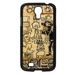 Mystery Pattern Pyramid Peru Aztec Font Art Drawing Illustration Design Text Mexico History Indian Samsung Galaxy S4 I9500/ I9505 Case (Black)