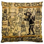 Mystery Pattern Pyramid Peru Aztec Font Art Drawing Illustration Design Text Mexico History Indian Standard Flano Cushion Case (One Side)