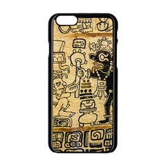 Mystery Pattern Pyramid Peru Aztec Font Art Drawing Illustration Design Text Mexico History Indian Apple Iphone 6/6s Black Enamel Case by Celenk