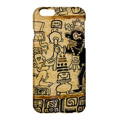 Mystery Pattern Pyramid Peru Aztec Font Art Drawing Illustration Design Text Mexico History Indian Apple Iphone 6 Plus/6s Plus Hardshell Case by Celenk