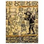 Mystery Pattern Pyramid Peru Aztec Font Art Drawing Illustration Design Text Mexico History Indian Drawstring Bag (Large)