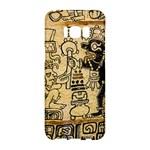 Mystery Pattern Pyramid Peru Aztec Font Art Drawing Illustration Design Text Mexico History Indian Samsung Galaxy S8 Hardshell Case