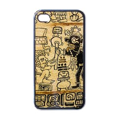 Mystery Pattern Pyramid Peru Aztec Font Art Drawing Illustration Design Text Mexico History Indian Apple Iphone 4 Case (black) by Celenk