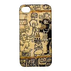 Mystery Pattern Pyramid Peru Aztec Font Art Drawing Illustration Design Text Mexico History Indian Apple Iphone 4/4s Hardshell Case With Stand by Celenk