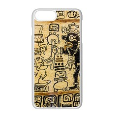Mystery Pattern Pyramid Peru Aztec Font Art Drawing Illustration Design Text Mexico History Indian Apple Iphone 7 Plus Seamless Case (white) by Celenk