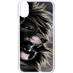 Angry Lion Digital Art Hd Apple Iphone X Seamless Case (white)