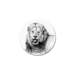 Lion Wildlife Art And Illustration Pencil Golf Ball Marker (10 Pack) by Celenk