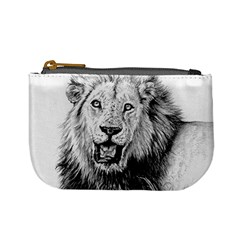 Lion Wildlife Art And Illustration Pencil Mini Coin Purses by Celenk