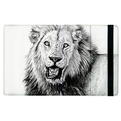 Lion Wildlife Art And Illustration Pencil Apple Ipad 2 Flip Case by Celenk