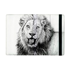 Lion Wildlife Art And Illustration Pencil Ipad Mini 2 Flip Cases by Celenk