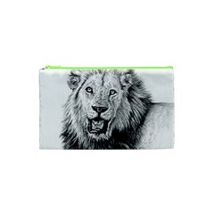 Lion Wildlife Art And Illustration Pencil Cosmetic Bag (xs) by Celenk