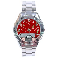 Hilarious Holidays  Stainless Steel Analogue Watch by Valentinaart