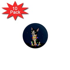 Meowy Christmas 1  Mini Magnet (10 Pack)  by Valentinaart