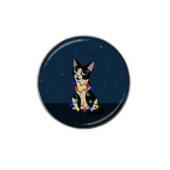 Meowy Christmas Hat Clip Ball Marker by Valentinaart