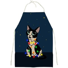 Meowy Christmas Full Print Aprons by Valentinaart