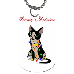 Meowy Christmas Dog Tag (two Sides) by Valentinaart