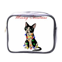 Meowy Christmas Mini Toiletries Bags by Valentinaart