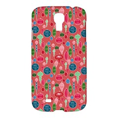 Vintage Christmas Hand Painted Ornaments In Multi Colors On Rose Samsung Galaxy S4 I9500/i9505 Hardshell Case by PodArtist
