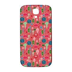 Vintage Christmas Hand Painted Ornaments In Multi Colors On Rose Samsung Galaxy S4 I9500/i9505  Hardshell Back Case by PodArtist