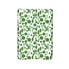 Vintage Christmas Ornaments In Green On White Ipad Mini 2 Hardshell Cases by PodArtist