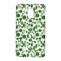 Vintage Christmas Ornaments In Green On White Galaxy Note Edge by PodArtist