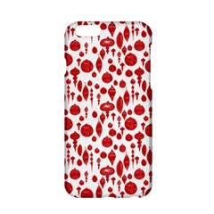 Vintage Christmas Ornaments In Red On White Apple Iphone 6/6s Hardshell Case by PodArtist