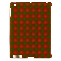 Classic Christmas Red And Green Houndstooth Check Pattern Apple Ipad 3/4 Hardshell Case (compatible With Smart Cover) by PodArtist