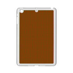 Classic Christmas Red And Green Houndstooth Check Pattern Ipad Mini 2 Enamel Coated Cases by PodArtist