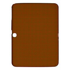 Classic Christmas Red And Green Houndstooth Check Pattern Samsung Galaxy Tab 3 (10 1 ) P5200 Hardshell Case  by PodArtist