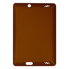 Classic Christmas Red And Green Houndstooth Check Pattern Amazon Kindle Fire Hd (2013) Hardshell Case by PodArtist