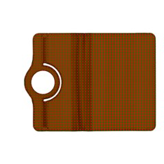 Classic Christmas Red And Green Houndstooth Check Pattern Kindle Fire Hd (2013) Flip 360 Case by PodArtist