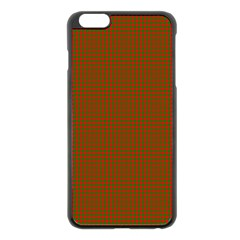 Classic Christmas Red And Green Houndstooth Check Pattern Apple Iphone 6 Plus/6s Plus Black Enamel Case by PodArtist