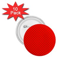 Small Christmas Green Polka Dots On Red 1 75  Buttons (10 Pack) by PodArtist
