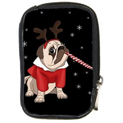 Pug Xmas Compact Camera Cases by Valentinaart