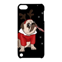 Pug Xmas Apple Ipod Touch 5 Hardshell Case With Stand by Valentinaart
