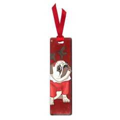 Pug Xmas Small Book Marks by Valentinaart