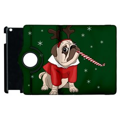 Pug Xmas Apple Ipad 2 Flip 360 Case by Valentinaart