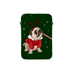 Pug Xmas Apple Ipad Mini Protective Soft Cases by Valentinaart