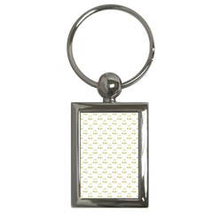 Gold Scales Of Justice On White Repeat Pattern All Over Print Key Chains (rectangle)  by PodArtist