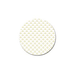 Gold Scales Of Justice On White Repeat Pattern All Over Print Golf Ball Marker by PodArtist