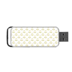 Gold Scales Of Justice On White Repeat Pattern All Over Print Portable Usb Flash (one Side) by PodArtist